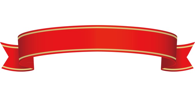 Bordering of ribbon red gold