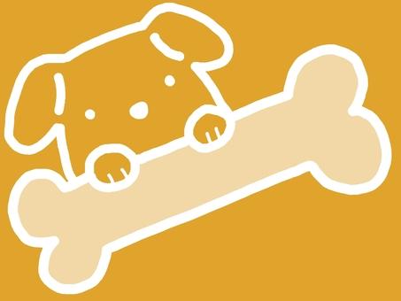 Dog frame animal bones