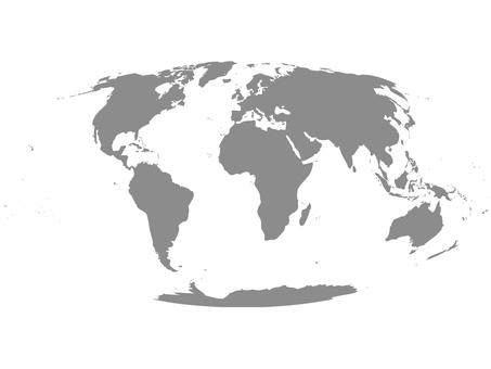 世界地図_シルエット5