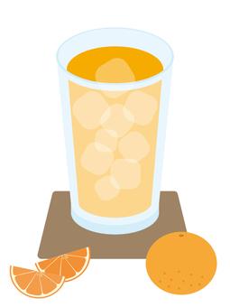 Cold drink Orange juice