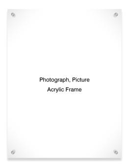 Acrylic Frame (Vertical)