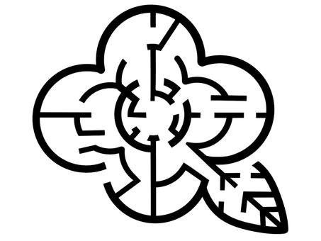 Flower maze (black)