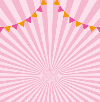 Pink background material ☆ flag attached radiation ☆ background picture