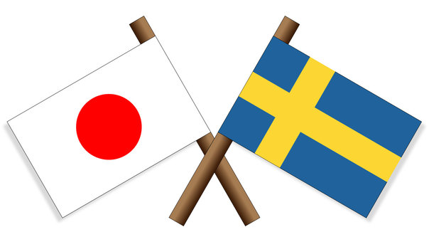 Flag Japan × Sweden