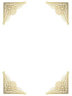 Star heart motif frame