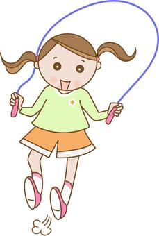 A girl who jumps rope