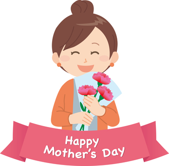 Mother's Day (Mother and Bouquet)