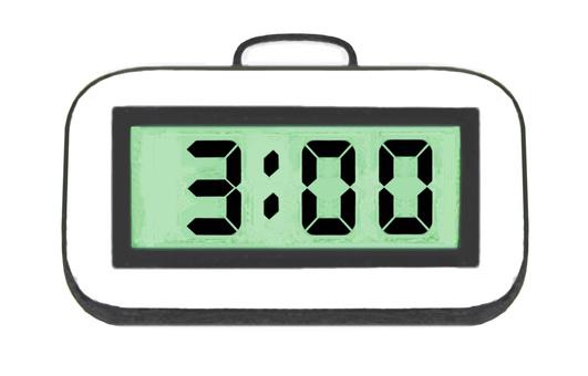 3 o'clock digital table clock