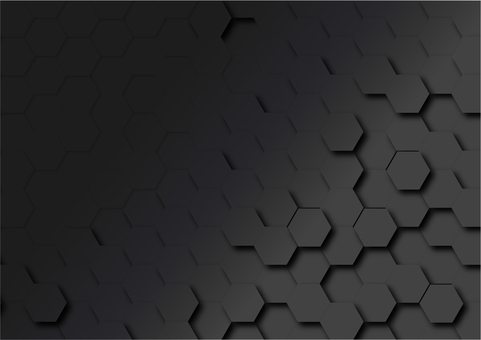 Black hexagon digital geometric pattern abstract background material