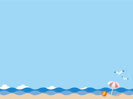 Summer beach scenery