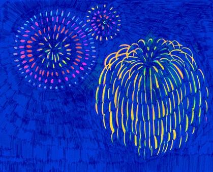 【Handwriting】 Fireworks