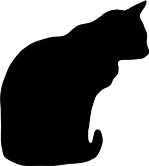 Cat's silhouette (Sitting)