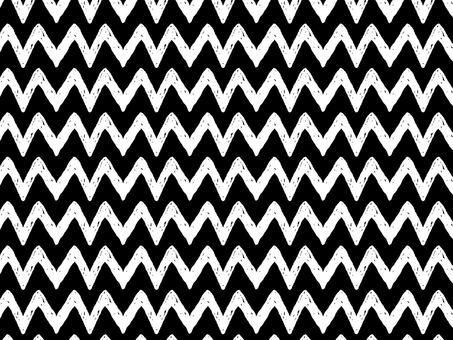 Hand drawn zigzag pattern black and white