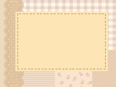 Patchwork frame brown