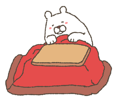 Kotatsu and white bear