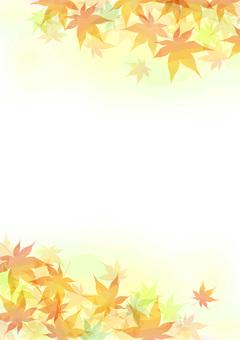 Autumn leaves frame length 3