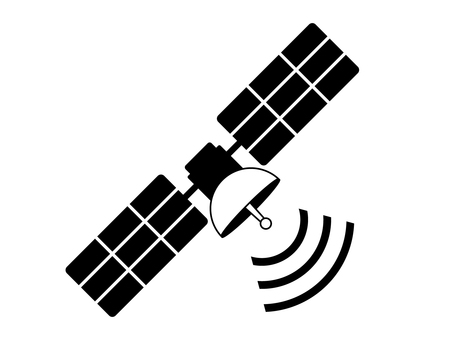 Satellite (GPS) Black and White 2