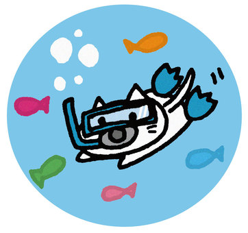 Snorkeling cat