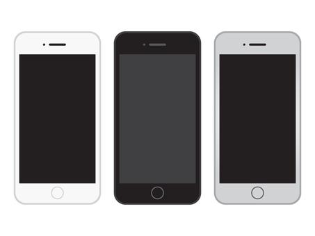 Simple smartphone white / black / silver