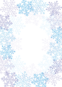 背景フレーム 雪の結晶 A4塗り足し