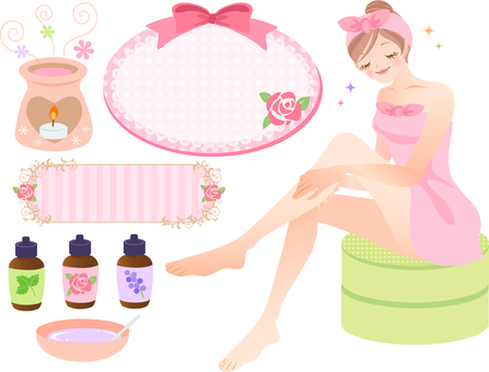 Foot massage / aroma illustration