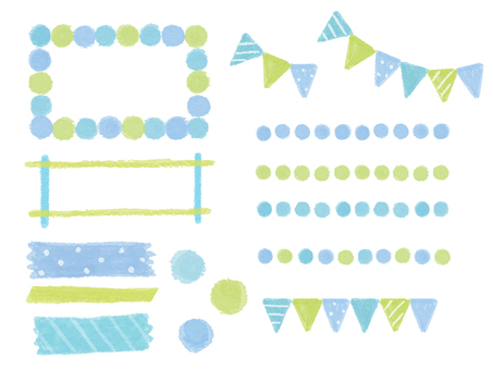 Blue frame, line