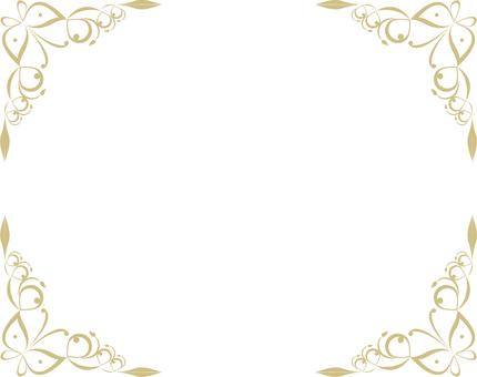 Butterfly frame (gold frame 10)