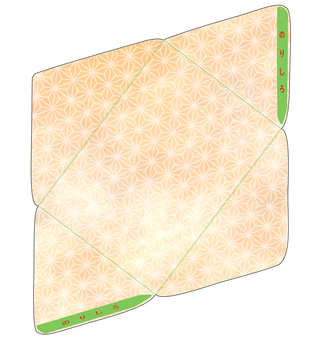 Hemp leaf envelope craft paper tone