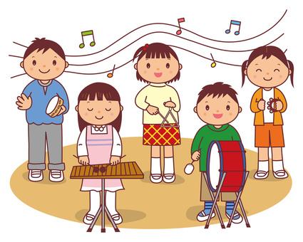 Concert concert children with contours
