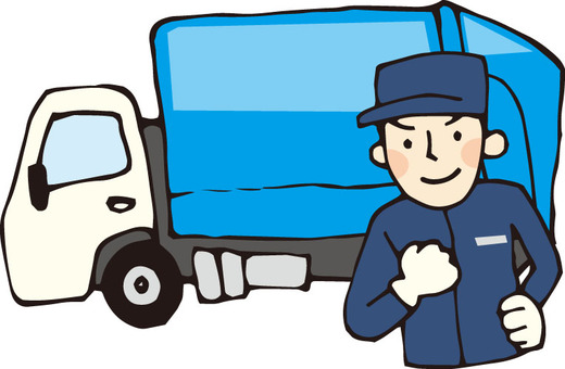 Garbage truck (workers and cars)