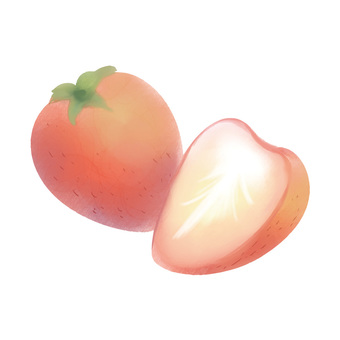 Watercolor style strawberries
