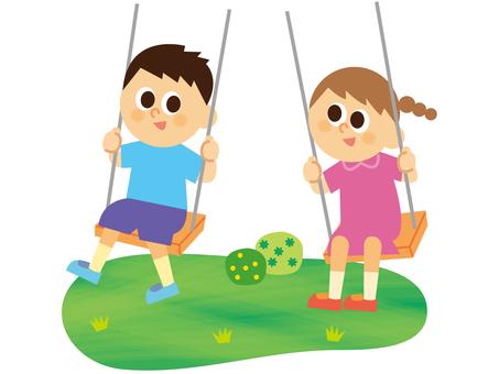 People _ Children _ swing