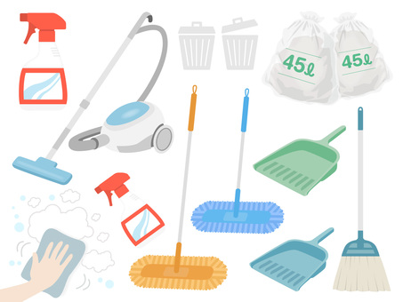 Illustration set for cleaning