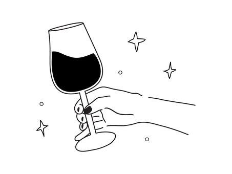 와인을 마시는