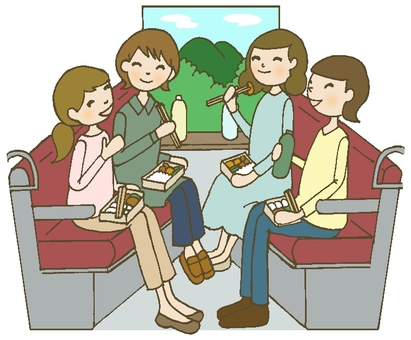 Train travel women