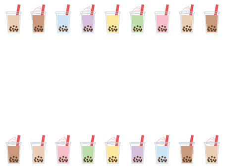 Tapioca Drink Colorful Frame