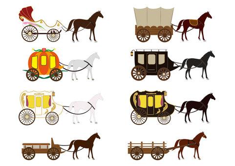 Horse carriage (carriage set / non-person version)