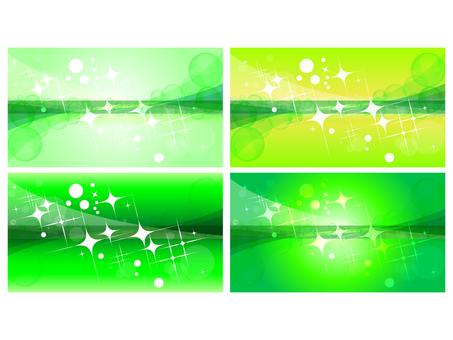長方形光ウェーブ水玉グリーン背景