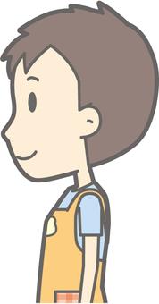 Nursery teacher - standing left side - bust
