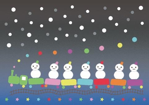 Snowman Train 1