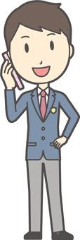 High school student blazer male-071-whole body