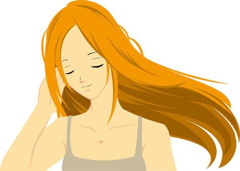Long hair woman ①