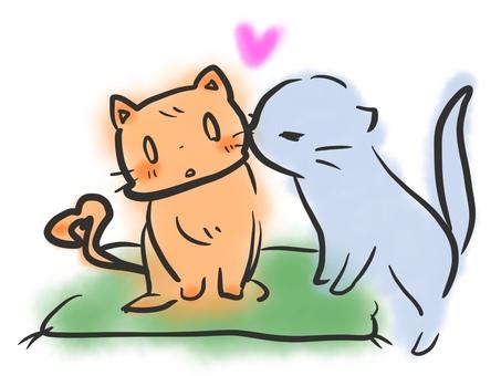 고양이 키스 커플