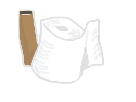 Toilet paper and core