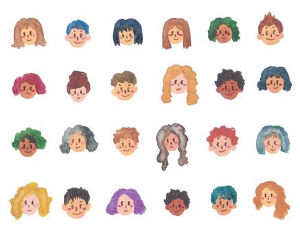Watercolor figures-set