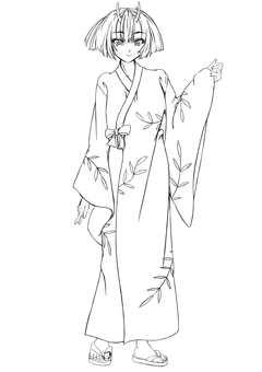 Kashima Maohime 4, Room wear (line drawing)