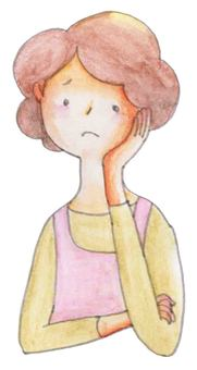 Worried person 01 (mother)