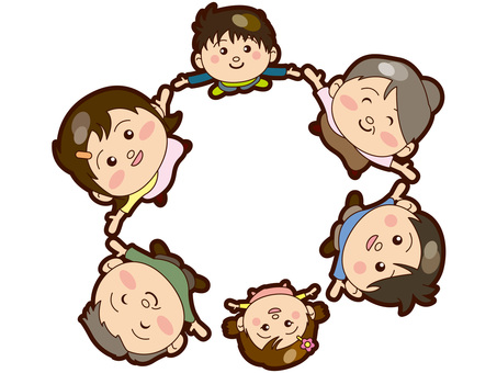 Family · Family 6 people · In circle