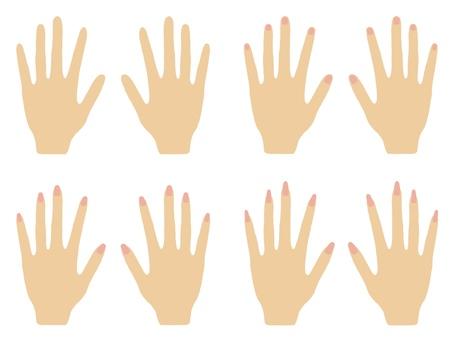 Hand illustration nail