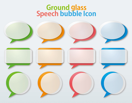 Ground-glass-style balloon frame set